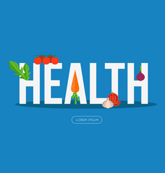 Health banner with vegetables vector