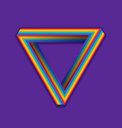 Lgbt pride symbol rainbow seamless triangle on a vector