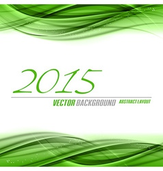 2015 wave green vector