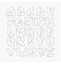 2d hand drawn alphabet letters from a to z in vector image
