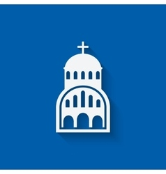 Greek church symbol vector