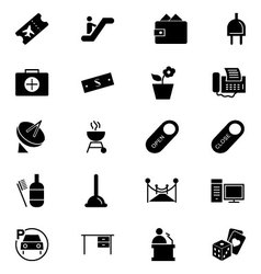 Hotel and restaurant icons 4 vector