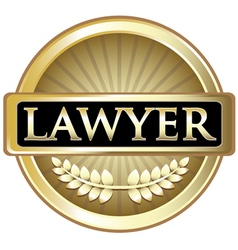 Lawyer gold label vector