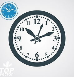 Elegant wall clock with stylized clockwise vector