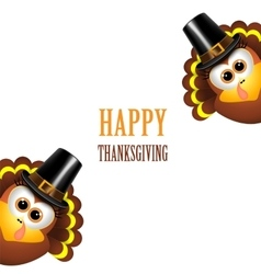 Happy thanksgiving with turkey vector