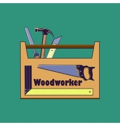 Carpentry toollabels and design elements vector