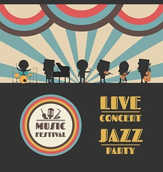 175jazz festival poster vector image