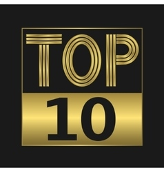 Top ten sign vector