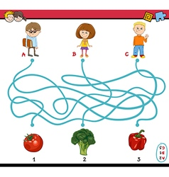 Game of path maze for children vector