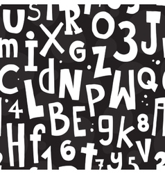 Alphabet black pattern vector image vector image