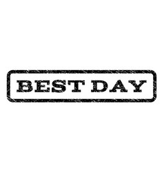 best day watermark stamp vector image vector image