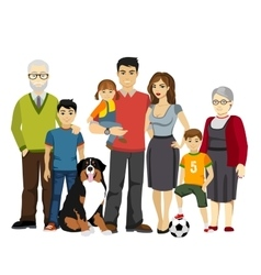 Big and Happy Family vector image vector image