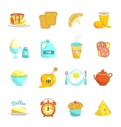Breakfast Icon Set vector image vector image