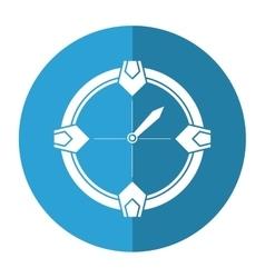 Compass location gps tool travel shadow vector