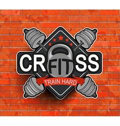 Crossfit emblem symbol vector