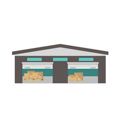 Delivery storage terminal isolated icon vector