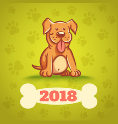 Dog with bone 2018 vector