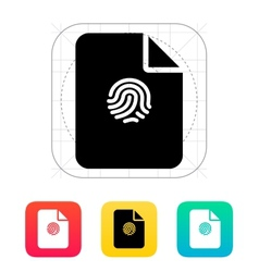 File with fingerprint icon vector