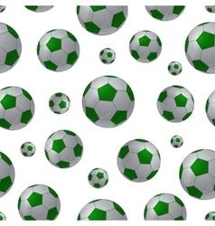 Football ball seamless background vector image vector image