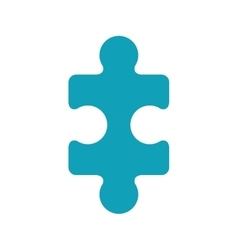 Light blue piece of puzzles vector