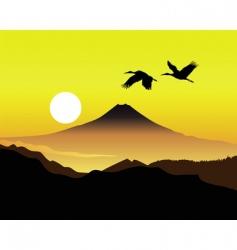 Mt Fujiyama vector image
