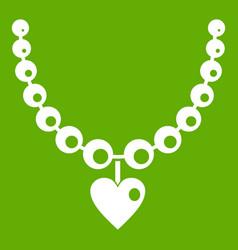 necklace icon green vector image vector image