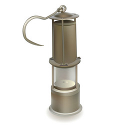 Old miners lamp vector
