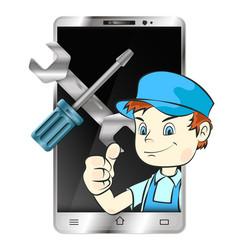 Repair of smartphones and phones vector