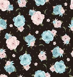 Seamless Delicate Floral - Floral Delicado vector image