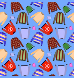 Seamless pattern of jumper isolated on vector