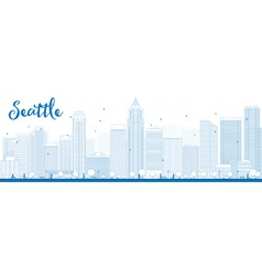 Seattle outline vector