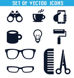 Set of icons 3 vector image vector image