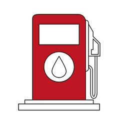 Sketch color silhouette fuel dispenser machine vector