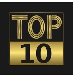 Top ten sign vector