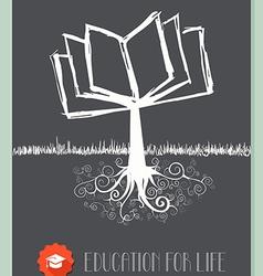 Vintage book tree vector