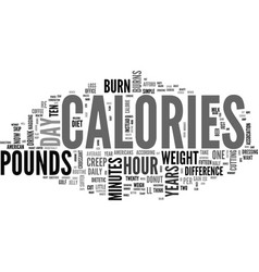 what s calories a day text word cloud concept vector image vector image