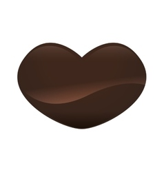 Chocolate heart sweet dessert delicious icon vector