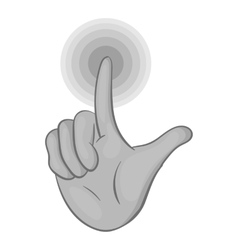Gesture idea icon black monochrome style vector