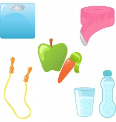 diet icons vector image