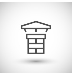 Chimney line icon vector