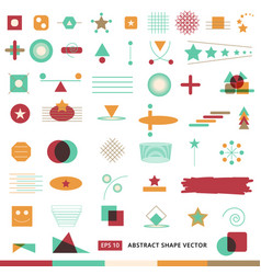 Abstract shape icon set vector