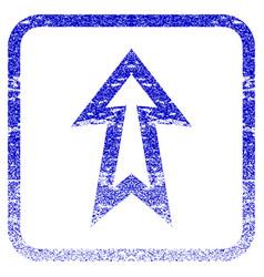 Arrow up framed textured icon vector