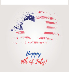 Usa independence day background happy 4th of vector