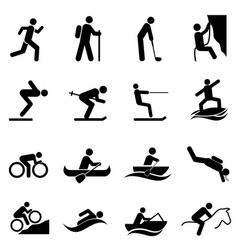 leisure sports and outdoor activities vector image