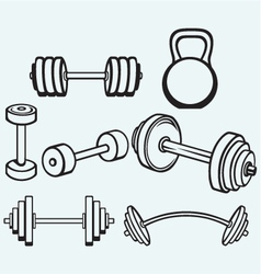 Dumbbells icons vector