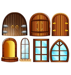 Doors and windows vector