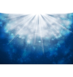 Blue sparkling lights shiny background vector