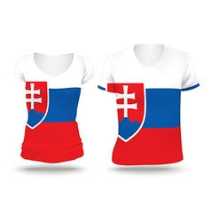 Flag shirt design of slovakia vector