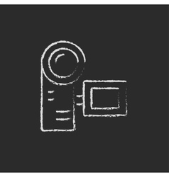 Camcorder drawn in chalk vector