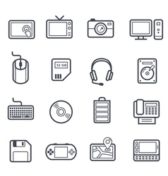 Technology and devices icon bold stroke vector